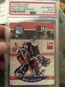 Autographed Mike Richter 1990 Pro Set Rookie Card Psa Certified Signed