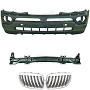 Set Kit Bumper Front + Carrier+ Grill For Bmw X5 E53 Year 03-07 Nur