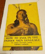 How To Talk In The Indian Sign Language By Chief Buffalo Child Long Lance 1930