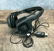 Plantronics Audio 655 Dsp Black Usb Stereo Headset W/microphone Untested