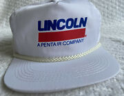 Vintage Baseball Cap Hat Lincoln Industrial Pentair White Rope Snapback 90and039s