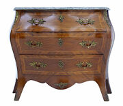 20th Century 1950's Kingwood And Mahogany Bombe Commode Chest Of Drawers