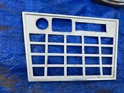 Fiat 124 Spider Good Early Metal Radio Console Face Plate