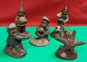 Lot Of 5 Tom Clark - Perry Janet Pawley Charlie Jacques - Gnome Figurines