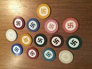 Vintage American Native Clay Poker Chips