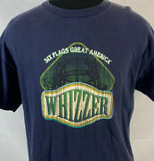 Vintage Six Flags T Shirt Great America Promo Tee Large Whizzer Theme Park