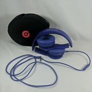 Beats By Dr. Dre Solo Hd Headband Headphones Purple Wired Tested