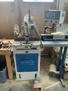 Omga T50-350 Precision Mitre Saw With Vacuum Cabinet And 9andrsquo Omga Auto Stop.