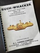 Bush Wacker T180 Rotary Cutter Wing Pto Tractor Owner Parts Shop Book Manual Oe