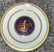 Mikasa Twelve Days Of Christmas Eight Maids A Milking 9andrdquo Accent Plate Gold Trim