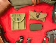 """Wwii M1924 First Aid Pouch - 1940 """"rare, Mint"""" 3 Piece Set """"nos Beautiful"""""""