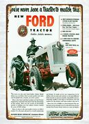 Home Kitchen Lodge Cafe Sale Ford-golden-jubilee Tractor Metal Tin Sign