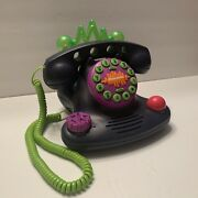 Nickelodeon Talk Blaster Land Line Telephone N2500 Lights And Sounds 1997 Tested