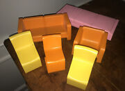 Vtg Mattel Barbie Furniture Bed Chair Couch 1973 Townhouse Mod