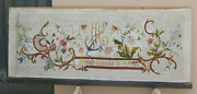 Embroidery Antique P J Altar Fabric Embroidered Art Religious Anchor Sailor