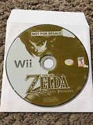 Wii The Legend Of Zelda Twilight Princess Not For Resale Demo Disc Only Rare