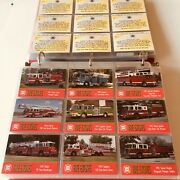 Fire Engine Firefighting Collectible Cards With Binder Bon Air Collectibles