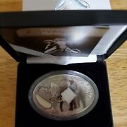 2oz Silver Coin With Piece Of Tusk Of An Actual Wooly Mammoth