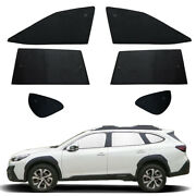 Fit For Subaru Outback 2020-2022 Side Window Black Silver Privacy Sunshade 6pcs