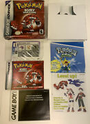 Pokemon Ruby Version Gameboy Advance Box Only - Authentic W/ Inserts Card