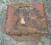 Vintage White Eagle Brewing Co Chicago Il Wooden Beer Crate 1930and039s 19 X 13 X8