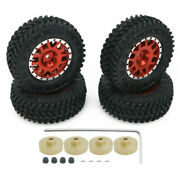 """Rcawd For Axial Scx24 Cnc Rim Rubber Tire 1.3"""" Wheel And Copper Counterweight Hex"""
