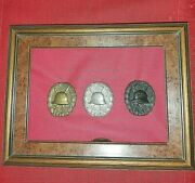 Ww1 German 3 Original Rare Drgm Wound Badges Pins Pushed Into Backing