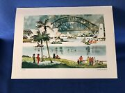 Pan Am Menu Featuring Water Color Painting Ofsydney, Australia By Dong Kingman
