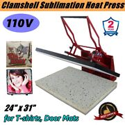 110v 24 X 31 Clamshell Manual Large Format Sublimation Heat Press Machine