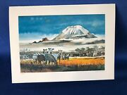 Pan Am Menu Featuring Water Color Painting Of San Francisco By Dong Kingman