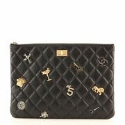 Lucky Charms Reissue 2.55 O Case Clutch Quilted Aged Calfskin Medium