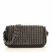 Triple Chain Flap Bag Leather Small