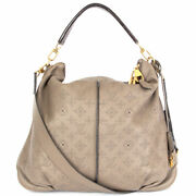 63166 Auth Louis Vuitton Ombre Taupe Mahina Leather Selene Mm Shoulder Bag