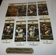 Brees First Year 2006 New Orleans Saints Auto Signed Season Tickets