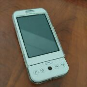 Android Dev Phone 1 Google Htc Dream In White, Case, Cable,unlocked, Tested Rare
