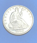 Seated Liberty 1/2 Dollar 1858 Bu Proof T-2 Only 80-100 Known To Exist Today