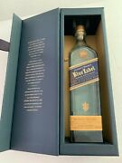 Johnny Walker Blue Label Empty Bottle With Collectible Box