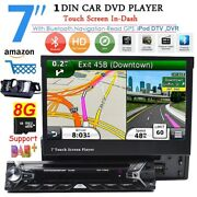 Gps Navigation 7single Din Car Cd Dvd Player Bluetooth Touch Screen Stereo Dab+