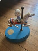 Rare 1956 Peanuts Playland Carousel Ceramic Willitts Music Box Melodies Works