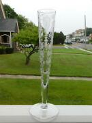 Cambridge Glass Company Rosepoint Rose Point 10 1/8 Footed Bud Vase