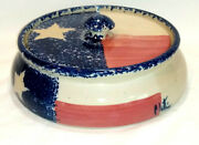 Paul Storie Pottery Bowl And Lid Marshall Tx 8.5 Lone Star Artist Signed Texas