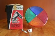 Vintage Atlas Holly-time 12 Color Wheel For Aluminum Christmas Tree Tested