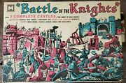 Vintage Battle Of Knights Parts Lot Multiple Prod Corp Incomplete Playset W/box