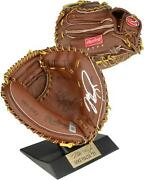 Mike Piazza Ny Mets Signed Rawlings Miniature Genuine Leather Catchers Glove