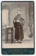 Lai-fong And Co Shanghai Victorian Cabinet Card Photograph Man In Chinese Clothes