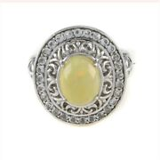 Hsn Victoria Wieck Ethiopian Opal And White Topaz Sterling Frame Ring 8 399