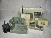 Vintage 1960s Sears Kenmore Model 1750 Sewing Machine With Pedal Accessories