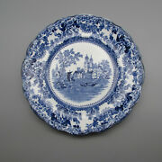 F Winkle China Flow Blue Togo Dinner Plates - Set Of Two