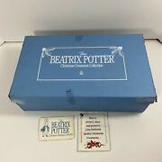 1990 The Beatrix Potter Christmas Ornament Collection Lot Of 16 Figurines