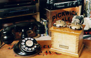 1920and039s Western Electric 102 Telephone With E-1 Handset And Oak Subset Ringer Box